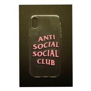 quality design 4ecd1 a2a30 iPhoneX Anti Social Social Club Custom Made NWT
